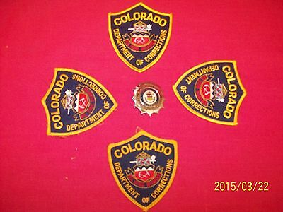 COLORADO DEPARTMENT OF CORRECTIONS OBSOLETE (SUPERVISOR)  BADGE & PATCHES