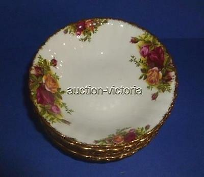 Set of 8 Royal Albert England Old Country Roses Bone China Fruit / Dessert Bowls