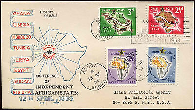 Ghana 1958 Independent States Registered FDC First Day Cover #C20087