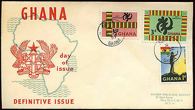 Ghana 1959, 1/2d, 3d, 1d Definitives FDC First Day Cover #C20064