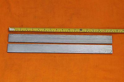LOT OF 2 CUSTOM HAND MADE BEAUTIFUL  LINE DAMASCUS STEEL BAR FOR BLADE MAKING