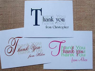 * THANK YOU Personalized Note Cards Stationery NAME Girls & Guys * Gifts