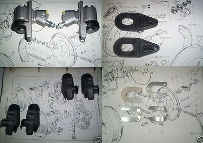 (x6) FORD 100e FRONT & REAR BRAKE WHEEL CYLINDERS with CLIPS GAITERS BOOTS 1958-