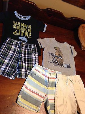Toddler Boy 2T Spring Summer Clothing Lot of 5 Baby Gap Crazy 8 Shorts  Tees