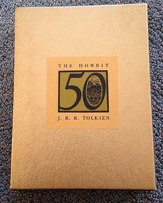THE HOBBIT 50th ANNIVERSARY GOLD EDITION HARDCOVER SLIPCASE EDITION JRR TOLKIEN