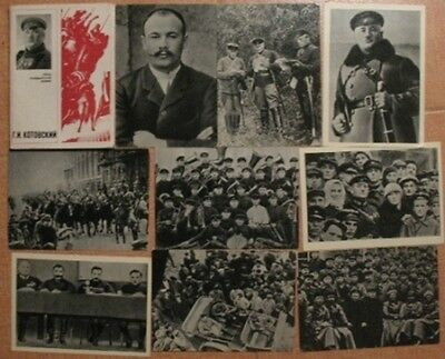Lot 15 RUSSIAN USSR Civil War Hero RED Army Kotovskiy Real Photo Card PC Officer