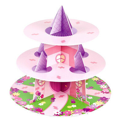 Culpitt PRINCESS 3 Tier Cupcake Cake Stand Display Birhtday Party Decoration