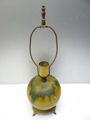 Vintage Used Yellow Green Ceramic EP Paul Lamp P402 Decorative Table Light Parts