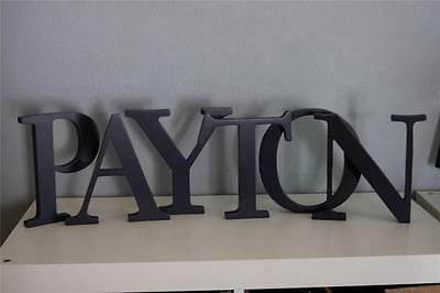 Pottery Barn Kids Navy 8 inch Wall letter P Y T O N letters NEW