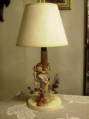 "Hummel ""Out of Danger"" Figurine Table Lamp #44 B with Shade - Pick up in PA"