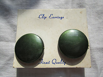 Vintage Jewelry set of Green Earrings Bought At Estate Sale New Old Stock