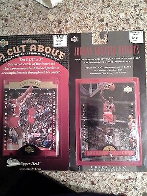 (2)Set of (10)1996-97 UD MICHAEL JORDAN Greater Heights,A Cut Above Oversized