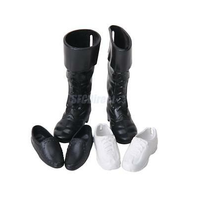 3 Pair Mixed Shoes Sports Sneakers Knee High Boots for Barbie Boyfriend Ken Doll