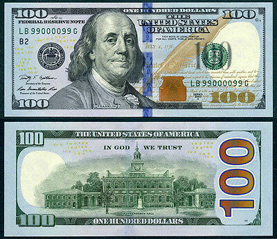 2009A $100 Dollar Us Usa America Note Franklin Unc P535 Currency Bill Banknote