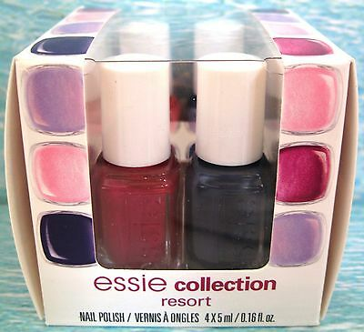 essie RESORT 2012 COLLECTION 4-pc Polish Set~SURE/NO MORE/PINK-A-BOO/PICTURE NIB