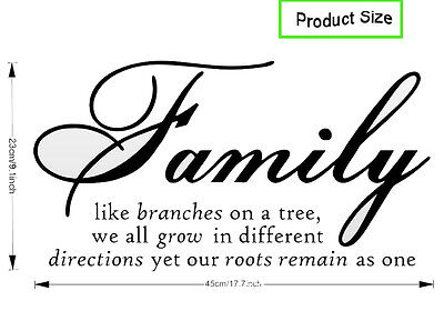 Family Tree Together Love wall Vinyl Sticker Decal quote Home Room Decor Art DIY