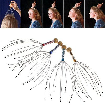 Head Neck Scalp Massager Massage Octopus Equipment Stress Release Relax Tool