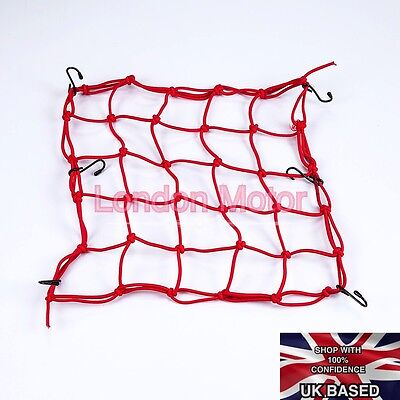 Premium Quality 6 Hooks Motorcycle Baggage Carrier Cargo Elastic Net E101-R