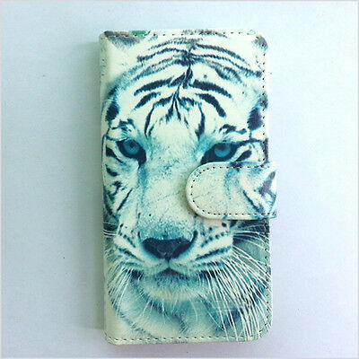 Brand new White tiger  wallet Flip case cover for Samsung/iphone/Nokia/HTC