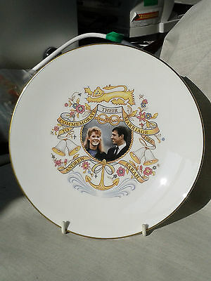 Royal Worcester Collectors plate. Royal Marriage Andrew & Sarah 1986. Bone China