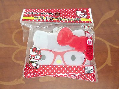 NEW Sanrio Hello Kitty Red Ribbon Cosmetics Plastic Cosme Case Japan Limited