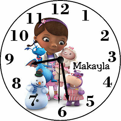 Doc McStuffings Inspired Personalized Wall Clock
