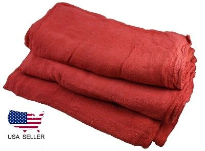 1000 new industrial shop rags / cleaning towels red large 14x14 ga towel brand