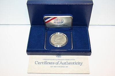 1987 U.S. CONSTITUTION SILVER $1 Dollar Proof Coin w Boxes & COA Listing A