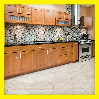 """96"""" Kitchen Cabinets Maple All Wood Newport Group Sale by LessCare KCNP6"""