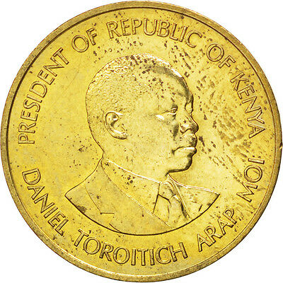 [#35896] KENYA, 5 Cents, 1987, British Royal Mint, KM #17, MS(63), Nickel-Brass