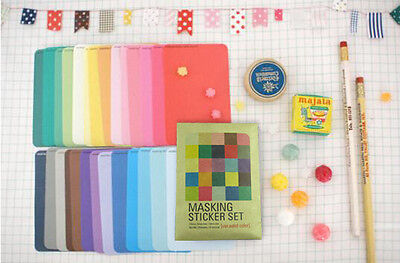 27 X fab masking sticker set sticker diary home pack -Solid style UK DIY