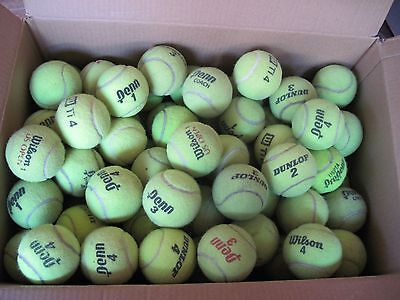 HUGE LOT OF 100+ USED TENNIS BALLS - DOGS TOYS, PRACTICE, FUN!!!