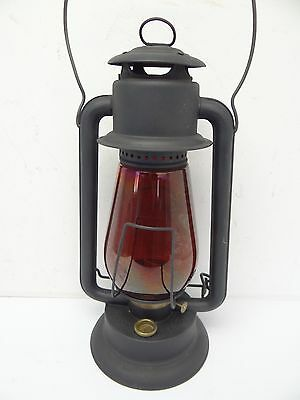 Antique Old Red Glass Prisco No 2 Black Pritchard & Strong Barn Tubular Lantern