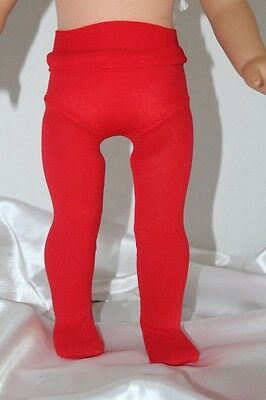 American Made Doll Clothes for 18inch Girl Doll Tights Red