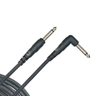 """Planet Waves 20ft 1/4"""" Instrument Cable w/right angle plug PW-CGTRA-20"""