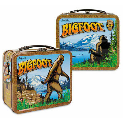 Bigfoot Metal Lunch Box Vintage Style Novelty Metal Tin Tote