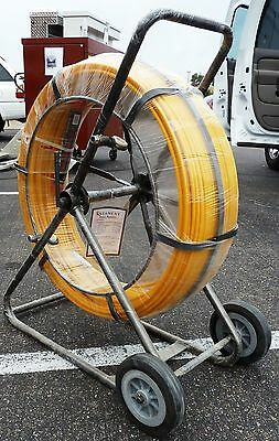 "STANLAY Cable Tiger 9mm (3/8"") x 200 Meter (656-ft) Fiberglass Duct Rodder, NEW"