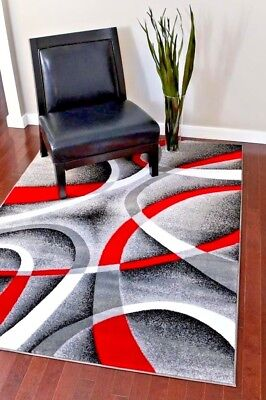 Rugs Area 8x10 Rug Carpets Large Gray Bedroom Floor Grey Red Cool