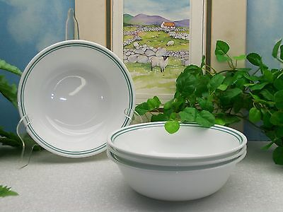 Lot of 4 Corelle Corning Ware ROSEMARIE Cereal Soup Salad Bowls  EXCELLENT !