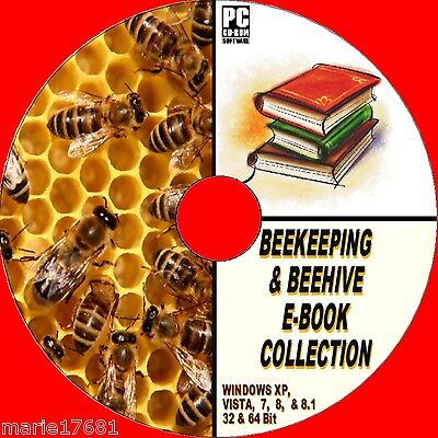 Massive Collection Of Rare Antique & Modern 50+ Beekeeping Books On Cd-Rom  New