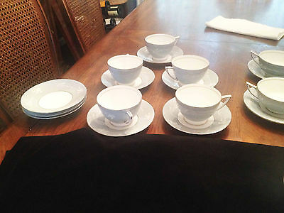 MINTON Bone China  (2) GREY/GRAY CAMEO - CUP & SAUCER  S664 1958 Made in England
