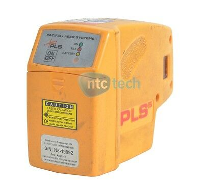 Pacific Laser Systems Laser PLS-60541 PLS 5 Laser Level Tool, Yellow Grade C