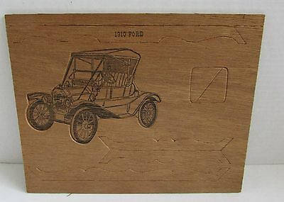 1910 Model T Ford Car Wood Puzzle Stand-Up Model *Unused*
