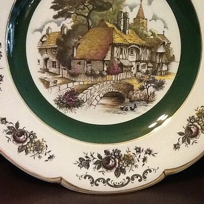 "Ascot Service Plate by Wood and Sons ENGLAND. Ironstone 10 1/2"" D with Hanger"
