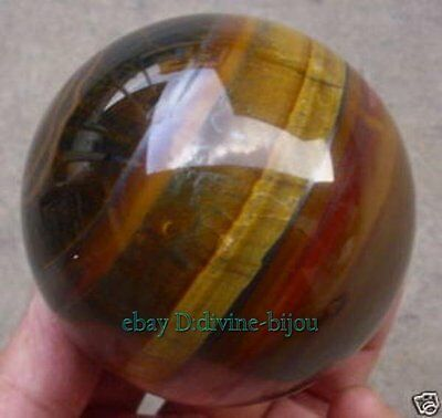 100% NATURE REAL Tiger Eye CRYSTAL SPHERE Ball , size :50 MM