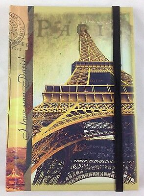 Paris Notebook Journal 4x6 Lined Page Hardcover Art Eiffel Tower Arc de Triomphe