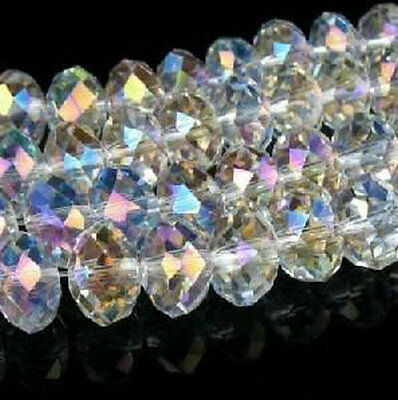 Wholesale! 700pcs 5x8mm White AB SWAROVSKI Crystal Faceted Loose Bead
