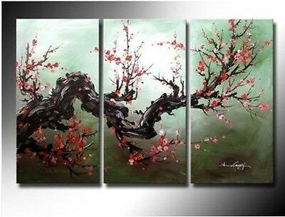 3 pieces Large Modern Abstract Art Oil Painting Wall Decor canvas (no frame)