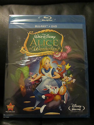Alice in Wonderland Blu-ray/DVD 2-Disc Set, 60th Anniversary Edition New Sealed