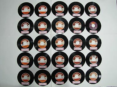 60's 70's MOTOWN MOD R&B NORTHERN SOUL Lot of 25 45 rpm Jukebox Records LISTED